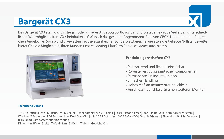 Bargerät CX 3